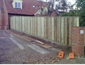 6ft high Closeboard fence