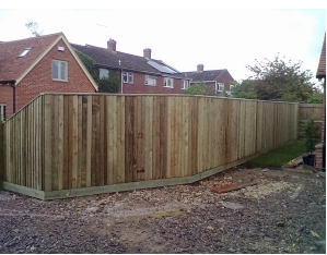 6ft high Closeboard fencing