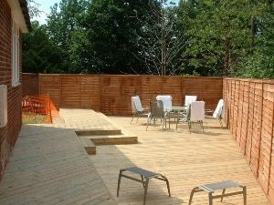Large decking in Newbury